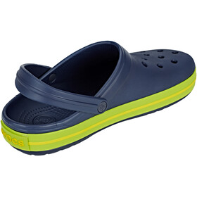 Crocs Crocband Clogs Unisex Navy/Volt Green/Lemon